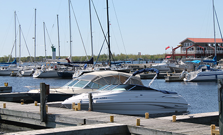 boats at Meyers Pier