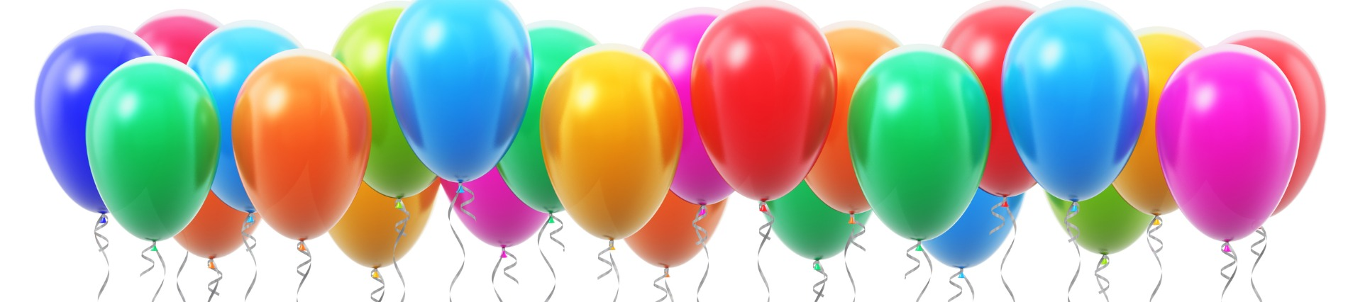 colourful birthday balloons