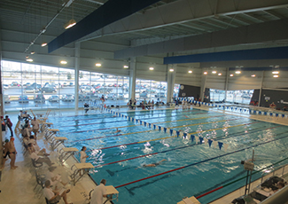 people in pool at the Templeman Aquatic Centre