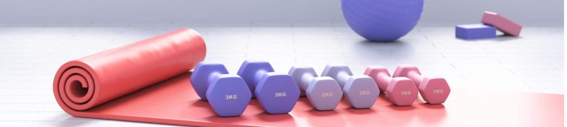weights on the floor